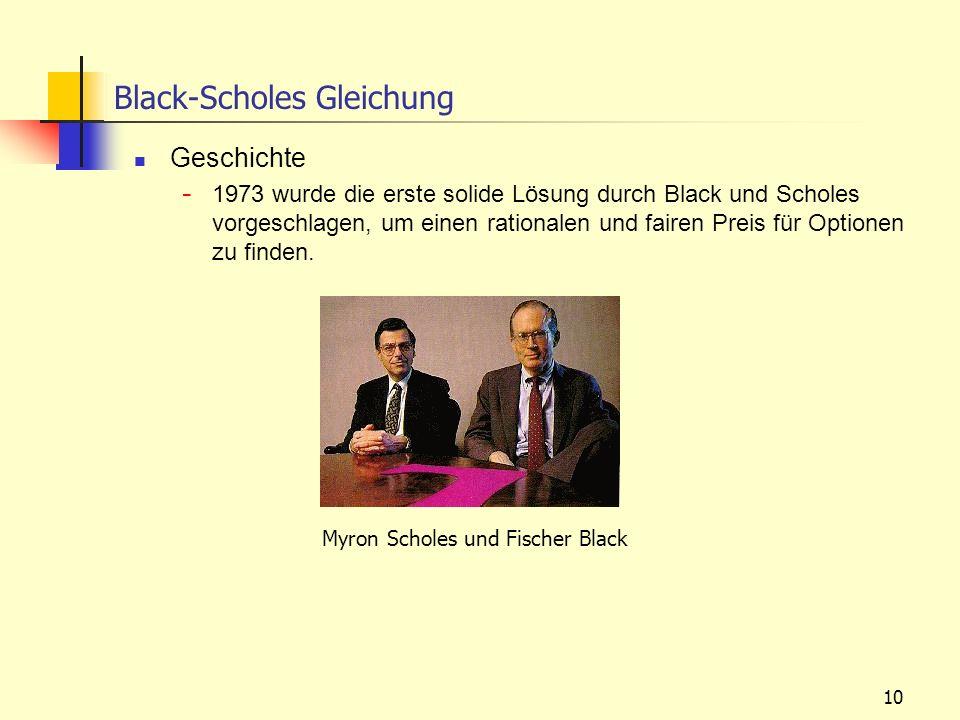 10 Black-Scholes Gleichung Geschichte - 1973 wurde die erste solide Lösung durch Black und Scholes vorgeschlagen, um einen rationalen und fairen Preis