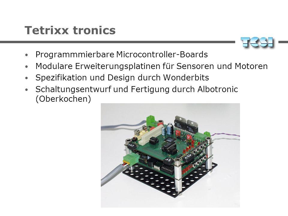 Tetrixx sense Spezialbauteile zur Aufnahme von Sensoren und Motoren Kostengünstige Modellbau-Komponenten Hochwertige Industriekomponenten
