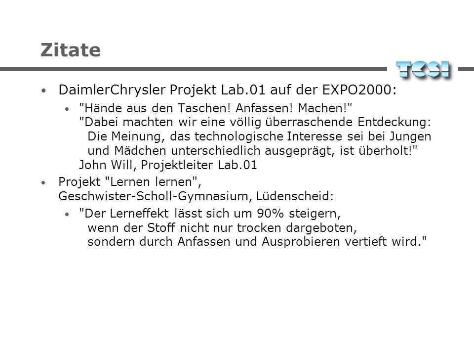 Citations DaimlerChrysler Project Lab.01 auf der EXPO2000: