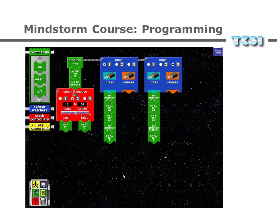 Mindstorm Course: Contents