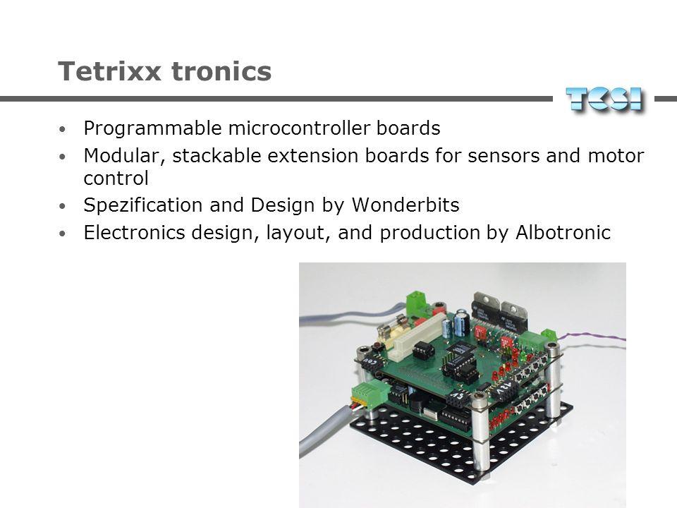 Tetrixx sense DC-Motoren Conrad, Graupner, Faulhaber, Maxon Servos Graupner, Robbe Schrittmotoren ELV Sonars IR Dioden Taster LCD-Display zu jedem Bau