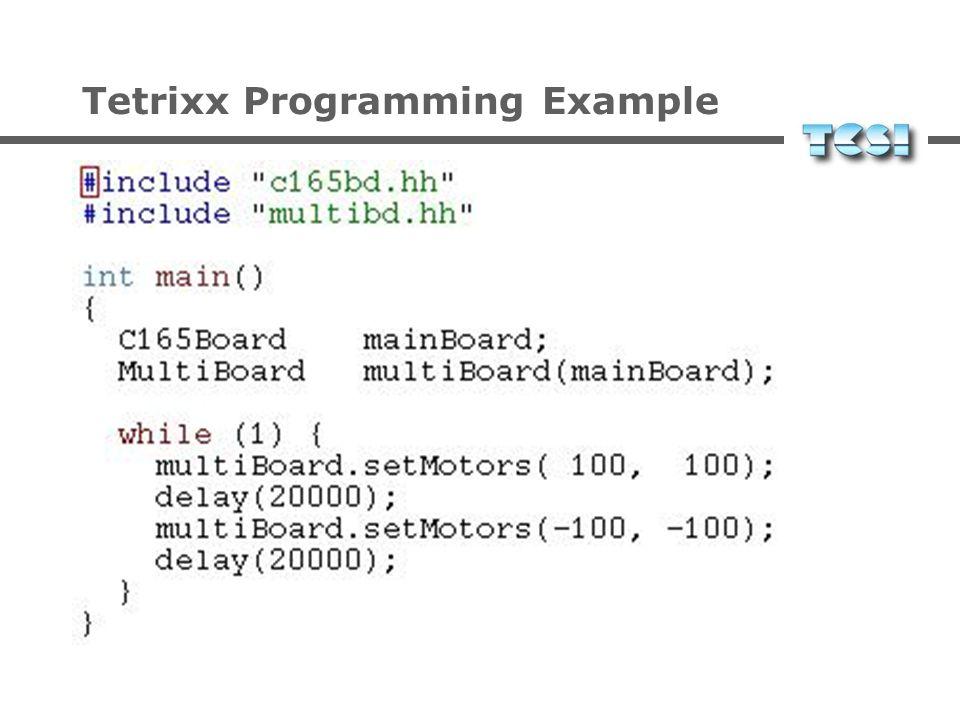 Tetrixx control Grafische Programmierumgebung für Roboter-Software Einfache Erlernbarkeit Einfache Benutzbarkeit Modularität Flexibilität
