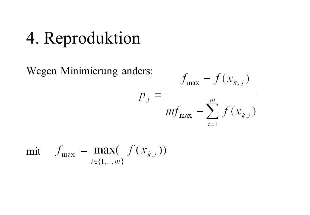 4. Reproduktion Wegen Minimierung anders: mit