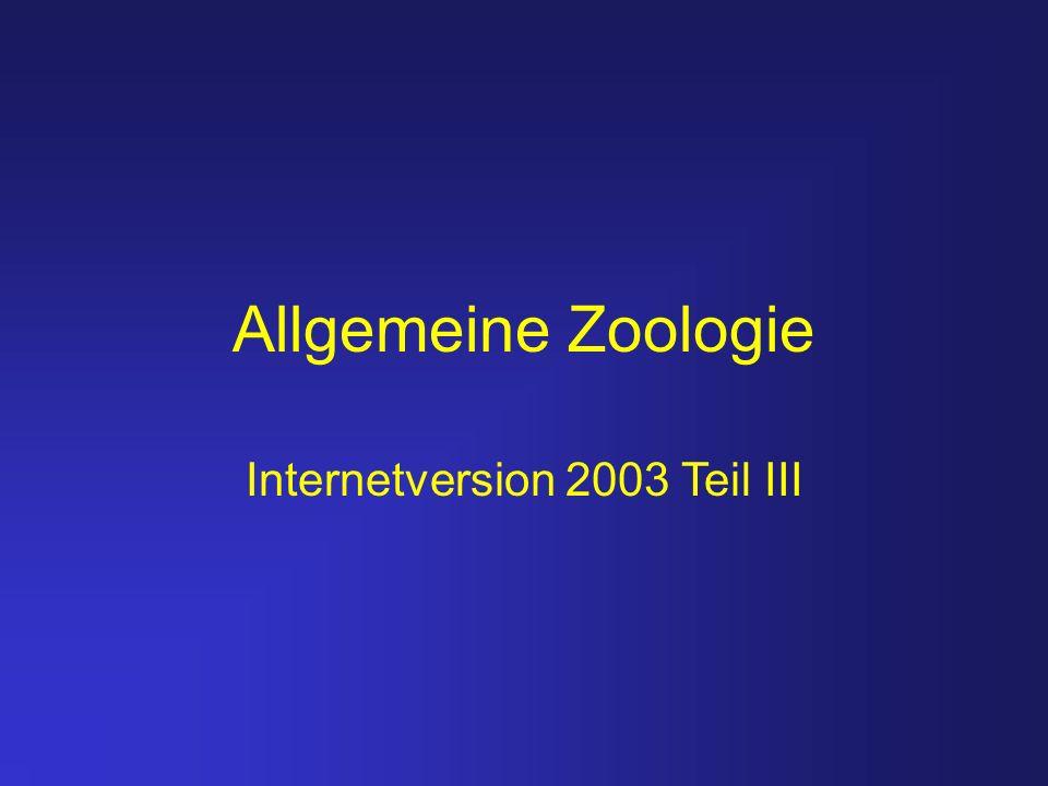Allgemeine Zoologie Internetversion 2003 Teil III