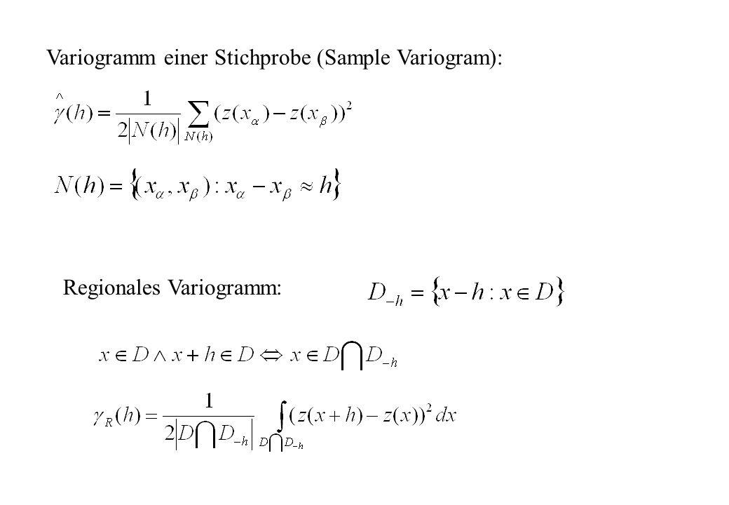 Regionales Variogramm: Variogramm einer Stichprobe (Sample Variogram):