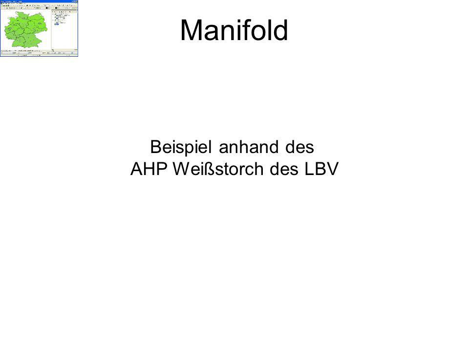 Manifold Beispiel anhand des AHP Weißstorch des LBV