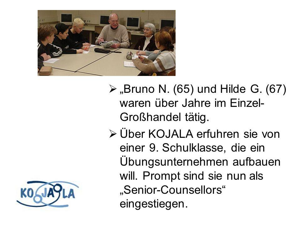 Bruno N. (65) und Hilde G. (67) waren über Jahre im Einzel- Großhandel tätig.