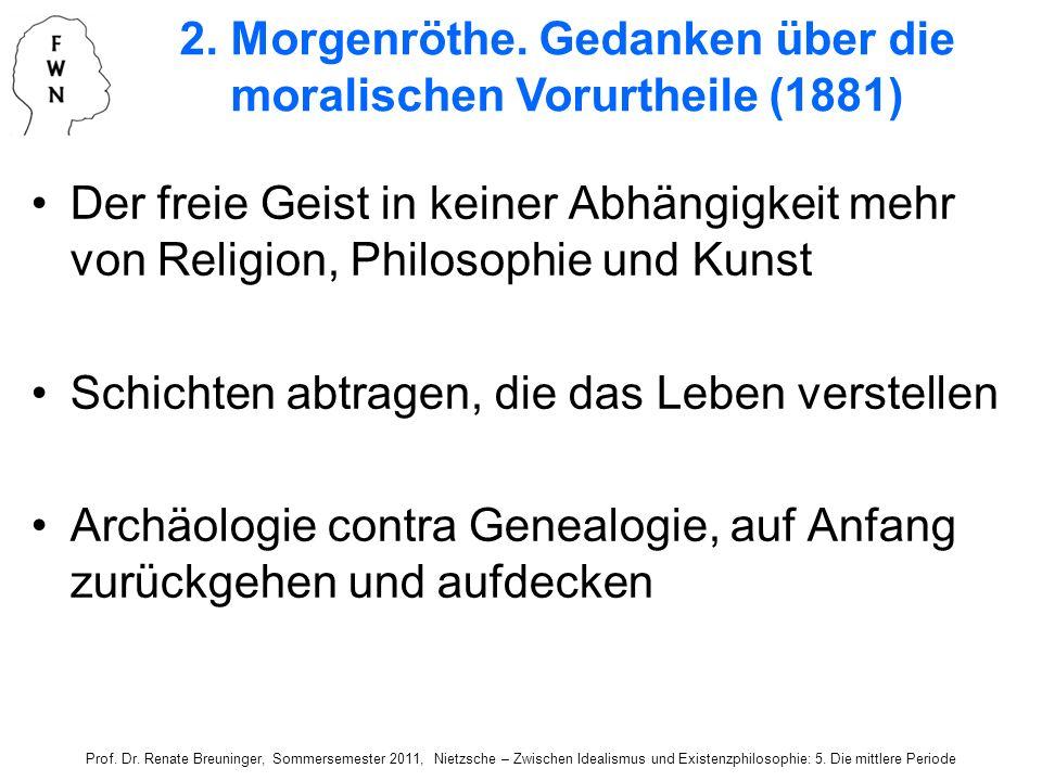 Der freie Geist in keiner Abhängigkeit mehr von Religion, Philosophie und Kunst Schichten abtragen, die das Leben verstellen Archäologie contra Geneal