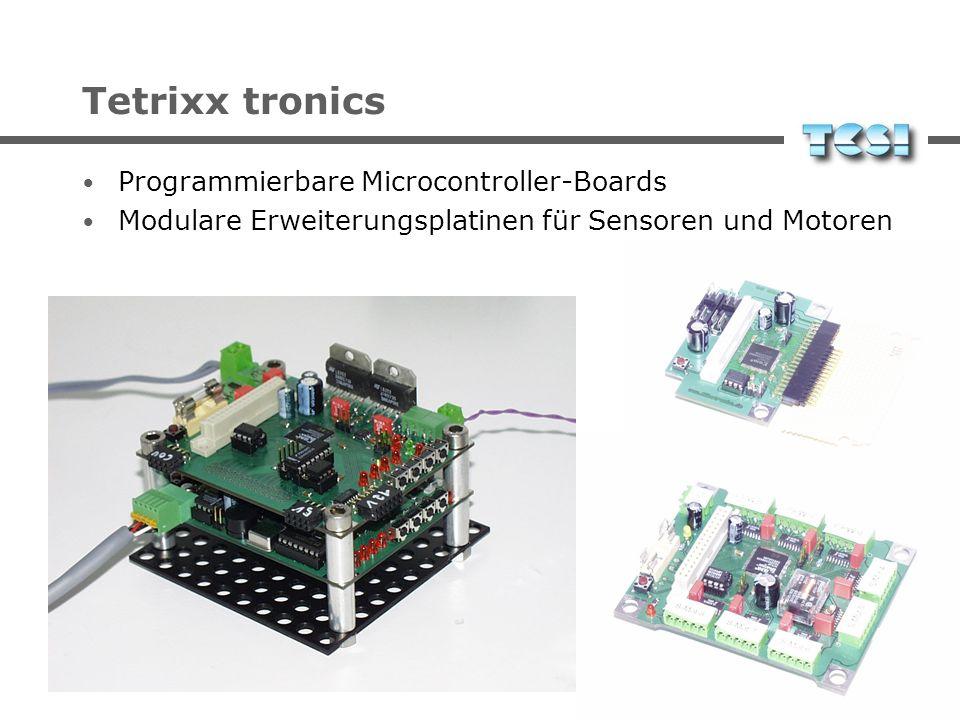 Tetrixx tronics Programmierbare Microcontroller-Boards Modulare Erweiterungsplatinen für Sensoren und Motoren