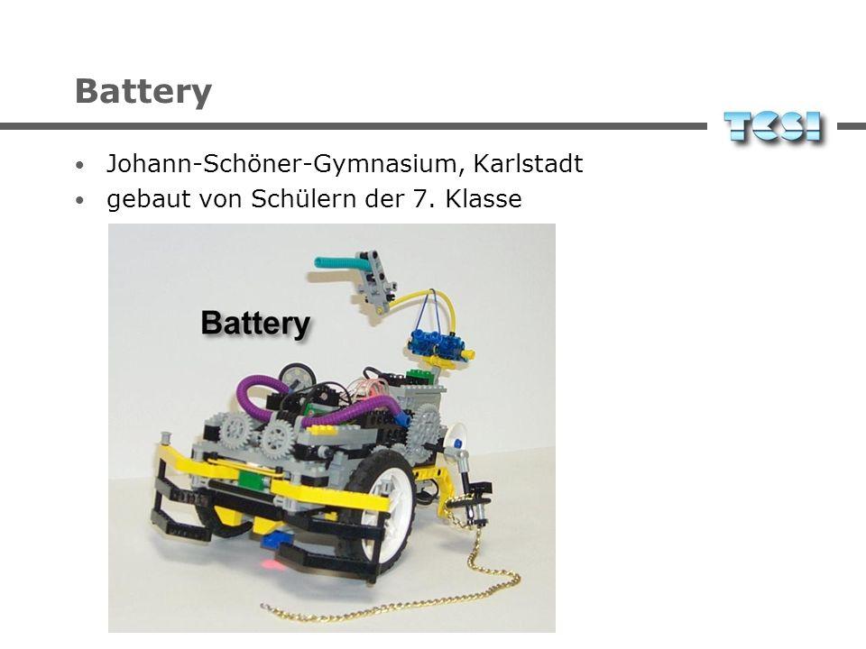 Battery Johann-Schöner-Gymnasium, Karlstadt gebaut von Schülern der 7. Klasse