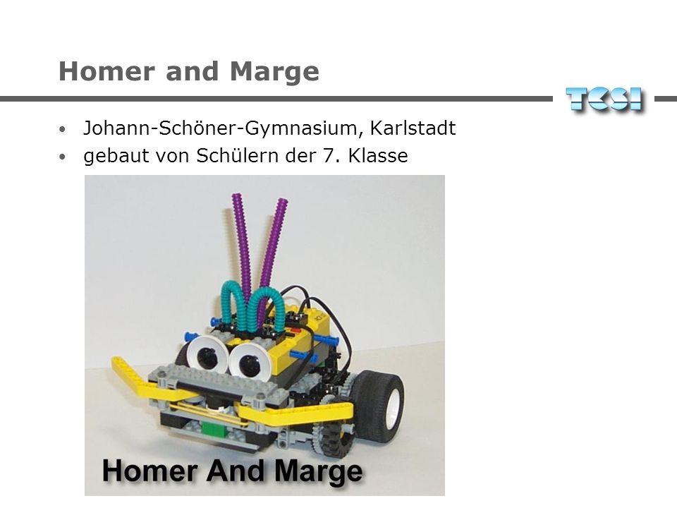 Homer and Marge Johann-Schöner-Gymnasium, Karlstadt gebaut von Schülern der 7. Klasse
