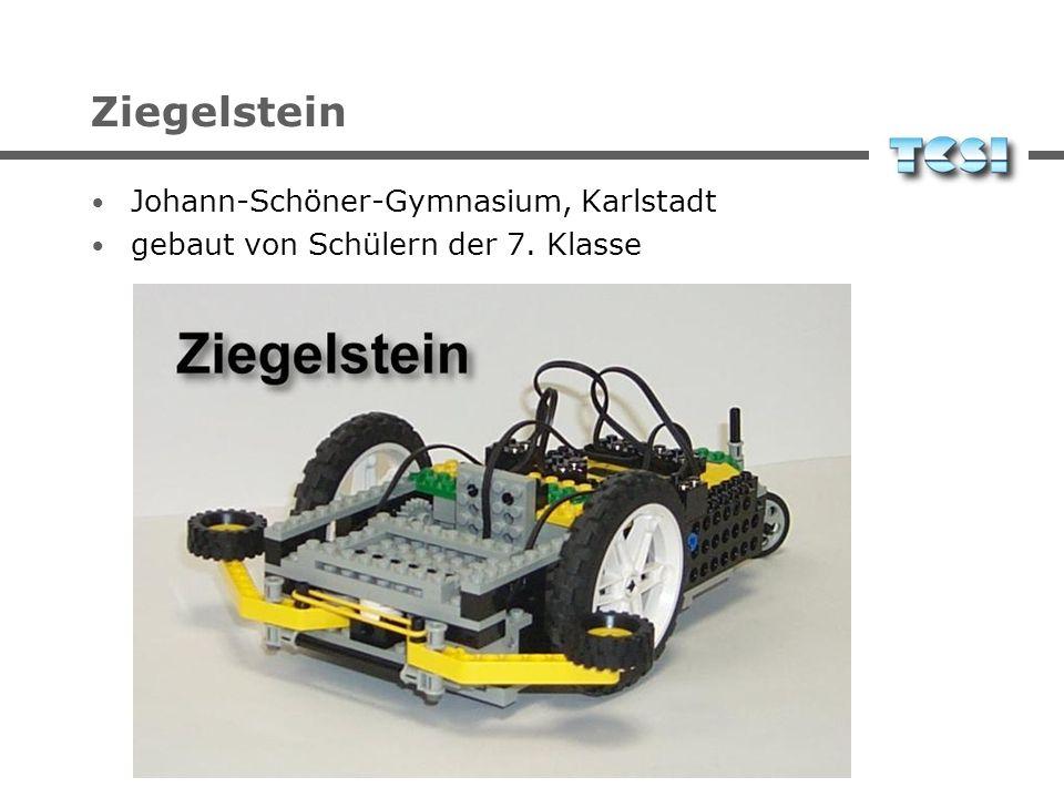 Ziegelstein Johann-Schöner-Gymnasium, Karlstadt gebaut von Schülern der 7. Klasse