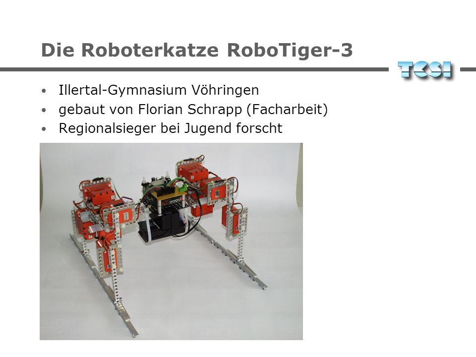 Die Roboterkatze RoboTiger-3 Illertal-Gymnasium Vöhringen gebaut von Florian Schrapp (Facharbeit) Regionalsieger bei Jugend forscht