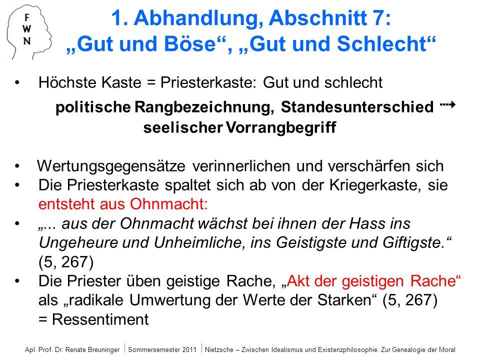 Höchste Kaste = Priesterkaste: Gut und schlecht politische Rangbezeichnung, Standesunterschied seelischer Vorrangbegriff Wertungsgegensätze verinnerli