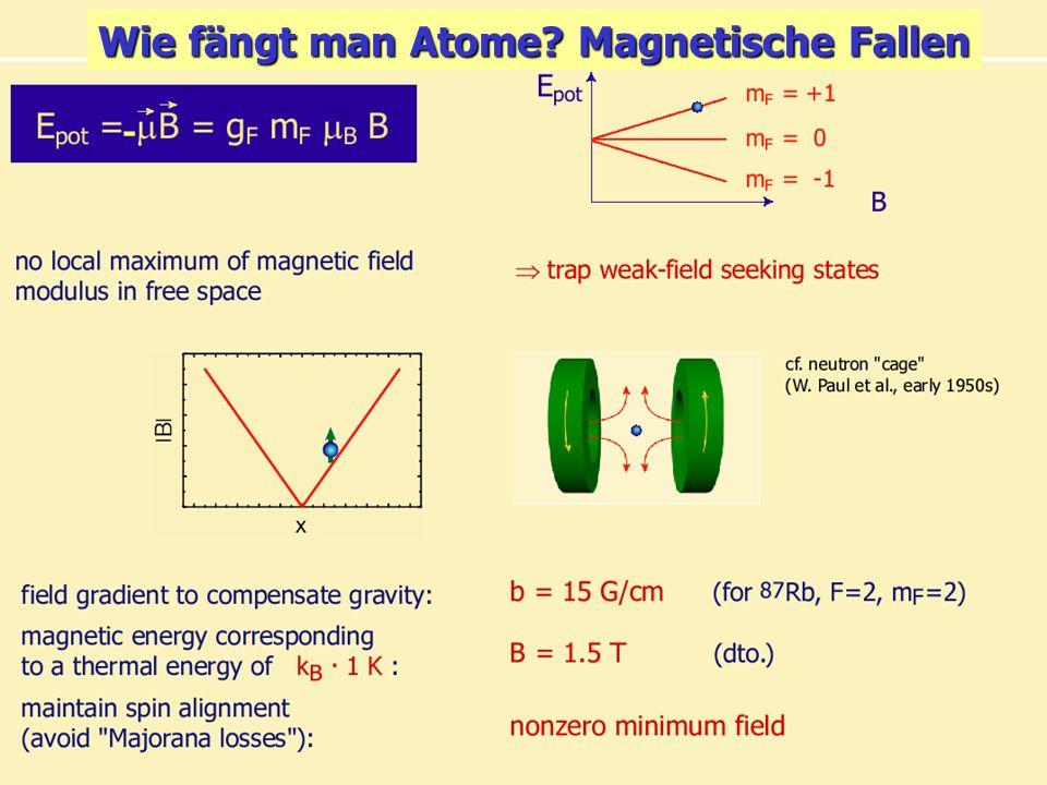 Kolloquium für Physiklehrende 17.1.06 7/31 - Wie fängt man Atome? Magnetische Fallen