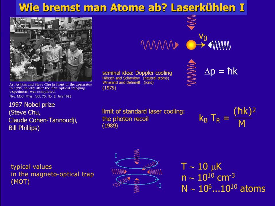 Kolloquium für Physiklehrende 17.1.06 8/31 Wie bremst man Atome ab? Laserkühlen I