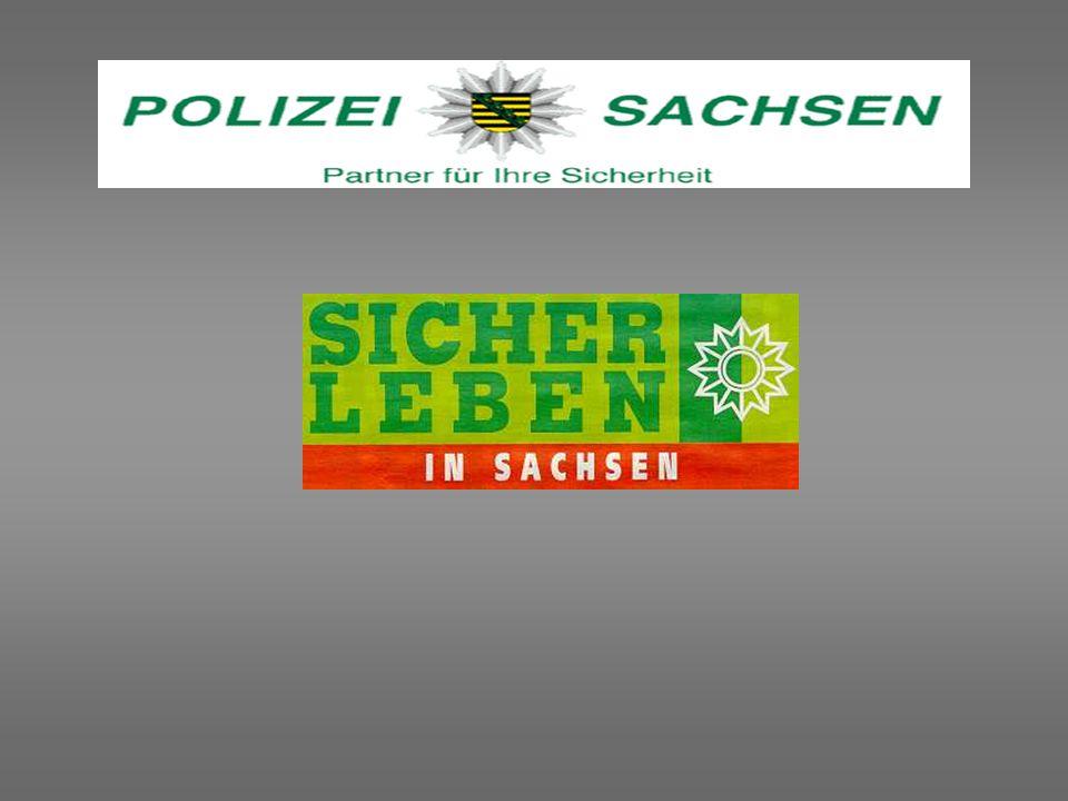 mit 3 Dienststellen im Internet präsent: Landeskriminalamt Sachsen http://www.lka.sachsen.de Polizeipräsidium Dresden http://www.polizei-dresden.de Fachhochschule der Polizeihttp://www.htw-zittau.de/~fhspol