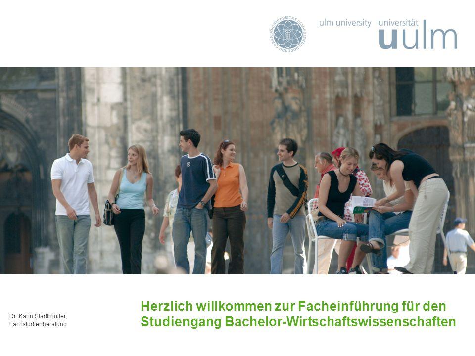 Dr. Karin Stadtmüller, Fachstudienberatung Herzlich willkommen zur Facheinführung für den Studiengang Bachelor-Wirtschaftswissenschaften