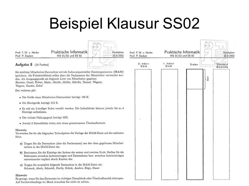 Beispiel Klausur SS02