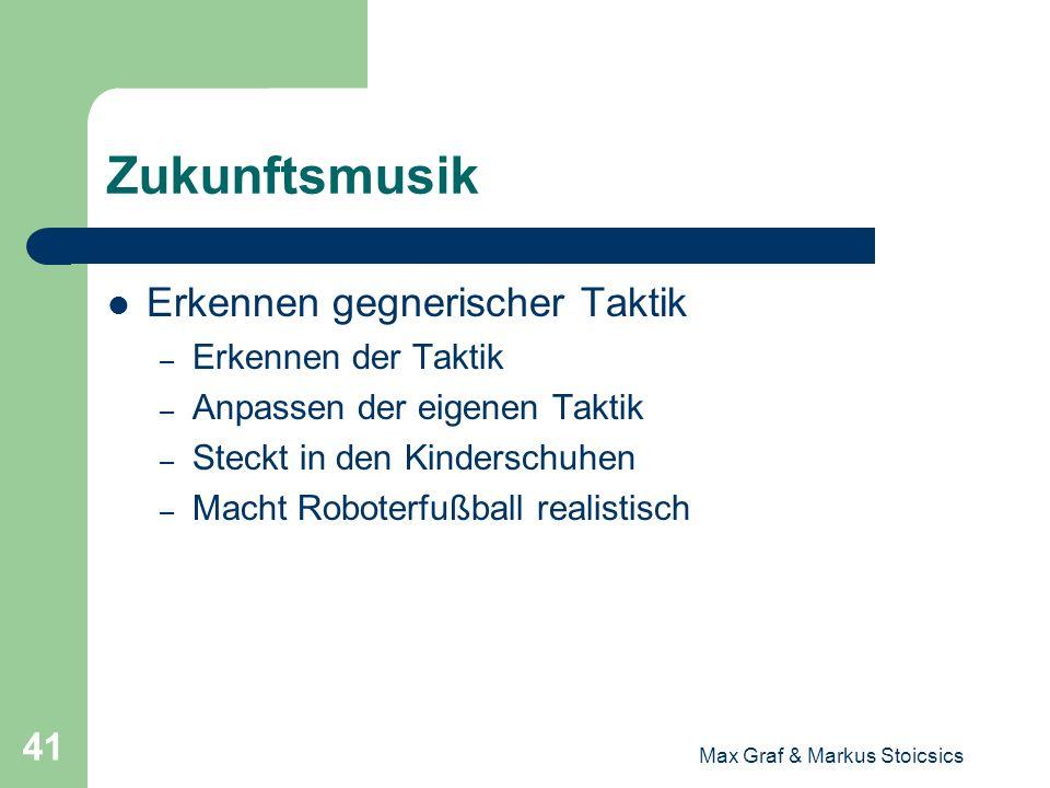 Max Graf & Markus Stoicsics 41 Zukunftsmusik Erkennen gegnerischer Taktik – Erkennen der Taktik – Anpassen der eigenen Taktik – Steckt in den Kindersc