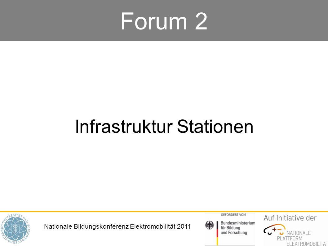 Nationale Bildungskonferenz Elektromobilität 2011 Forum 2 Infrastruktur Stationen