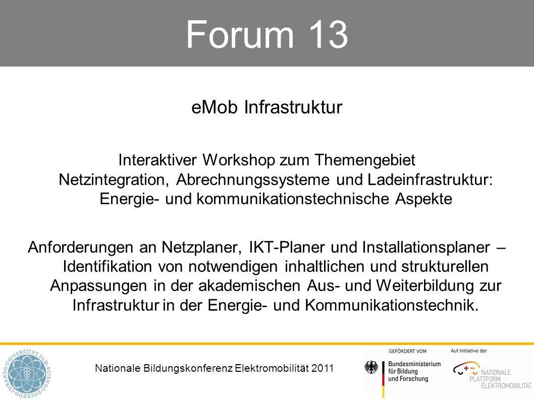 Nationale Bildungskonferenz Elektromobilität 2011 Moderation Jan Fritz Rettberg, TU Dortmund