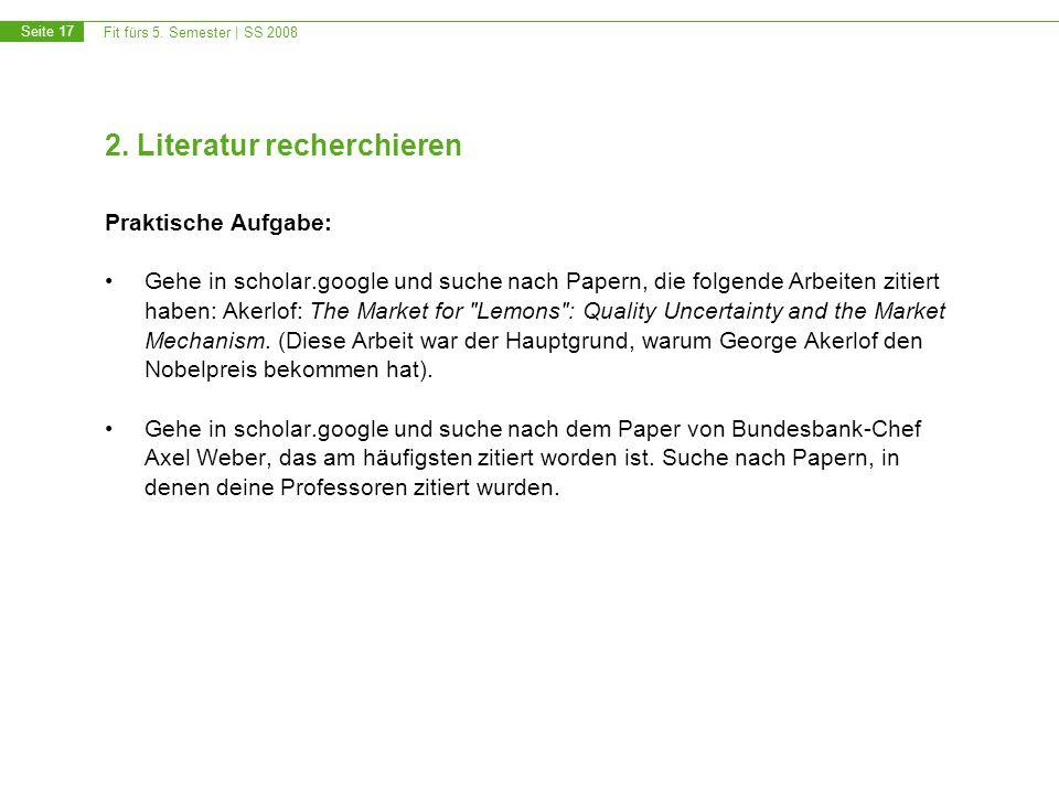 Fit fürs 5.Semester | SS 2008 Seite 17 2.