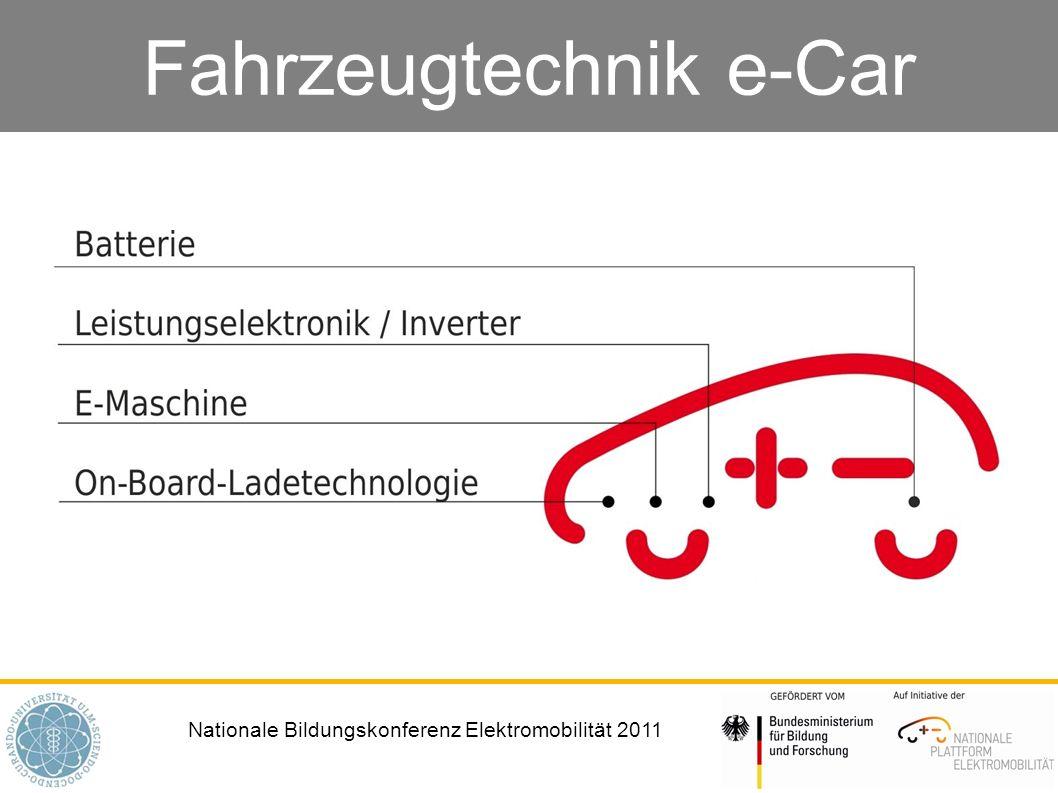 Nationale Bildungskonferenz Elektromobilität 2011 Fahrzeugtechnik e-Car