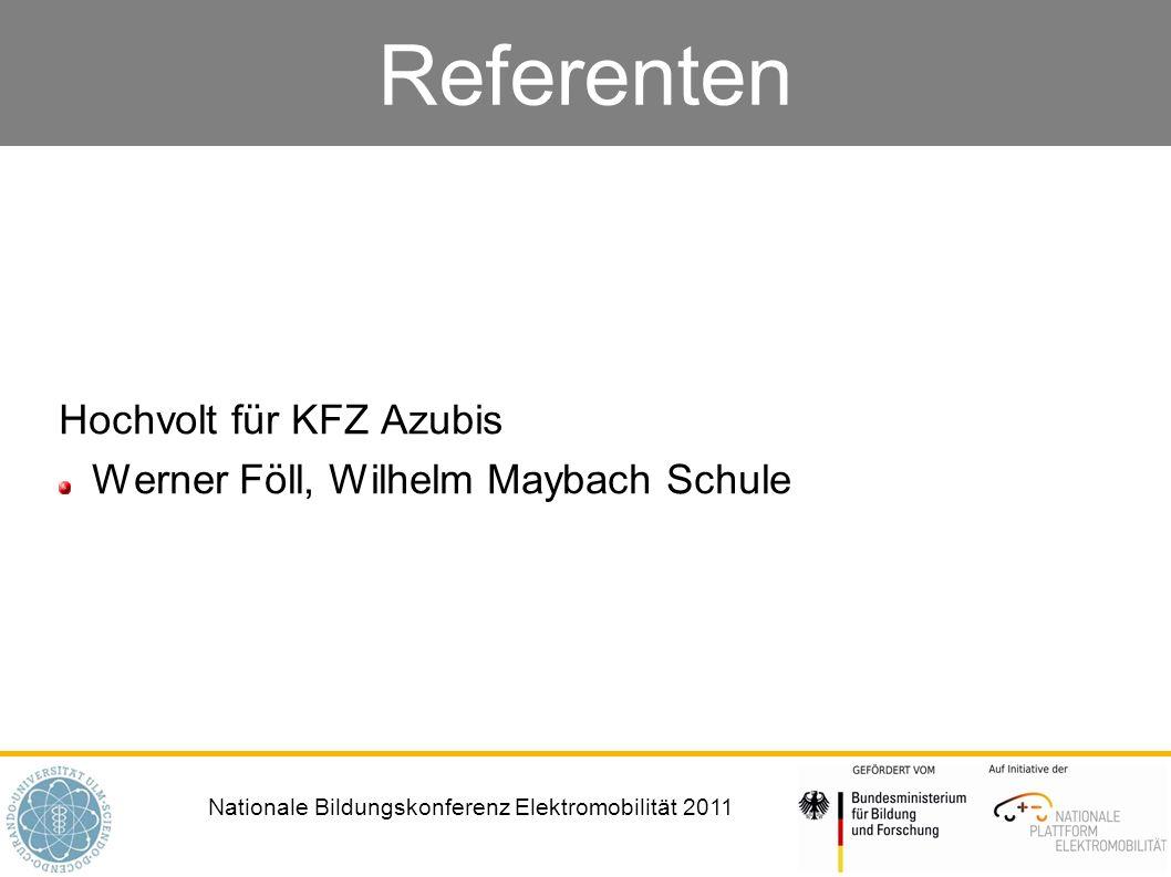 Nationale Bildungskonferenz Elektromobilität 2011 Referenten Systemtechniker Elektromobilität – Zweijährige Spezialqualifizierung für Mitarbeiter mit Berufserfahrung Magdalena Seeberg, Opel AG