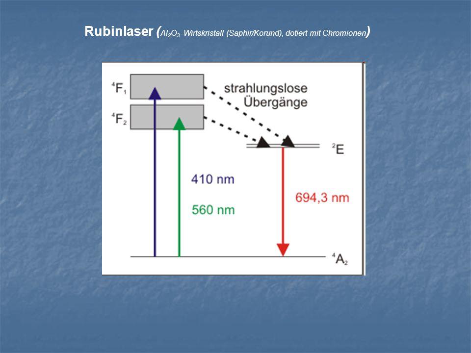 Rubinlaser ( Al 2 O 3 -Wirtskristall (Saphir/Korund), dotiert mit Chromionen )