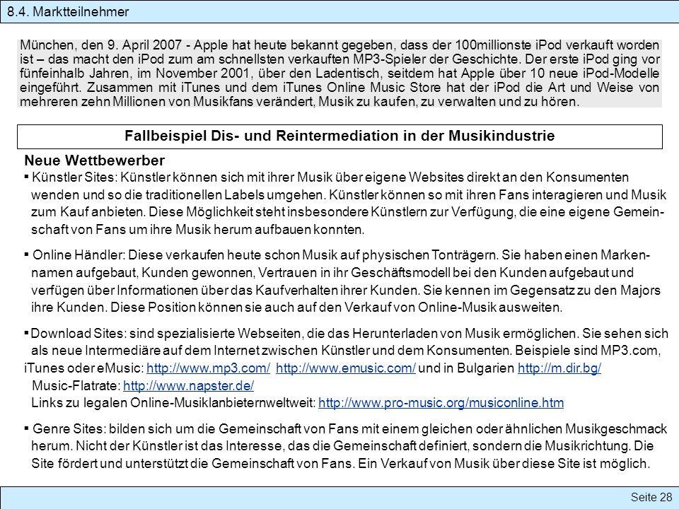 Seite 28 München, den 9. April 2007 - Apple hat heute bekannt gegeben, dass der 100millionste iPod verkauft worden ist – das macht den iPod zum am sch