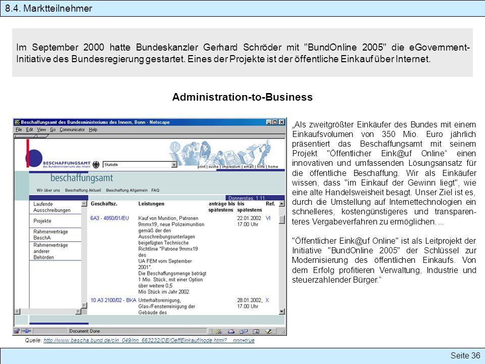 Seite 36 Im September 2000 hatte Bundeskanzler Gerhard Schröder mit