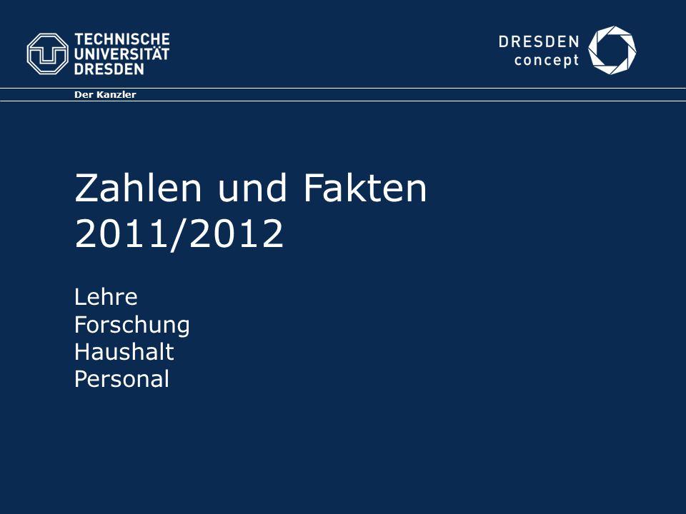 Der Kanzler Zahlen und Fakten 2011/2012 Lehre Forschung Haushalt Personal