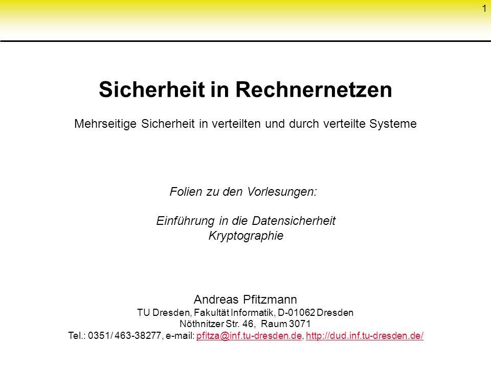 61 Schlüsselverteilung bei asymmetrischem Konzelationssystem Öffentliches Schlüsselregister R 1.