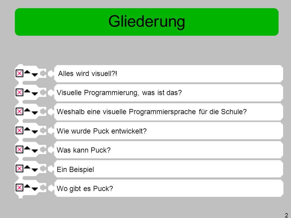 13 Weshalb eine visuelle Programmiersprache für die Schule.
