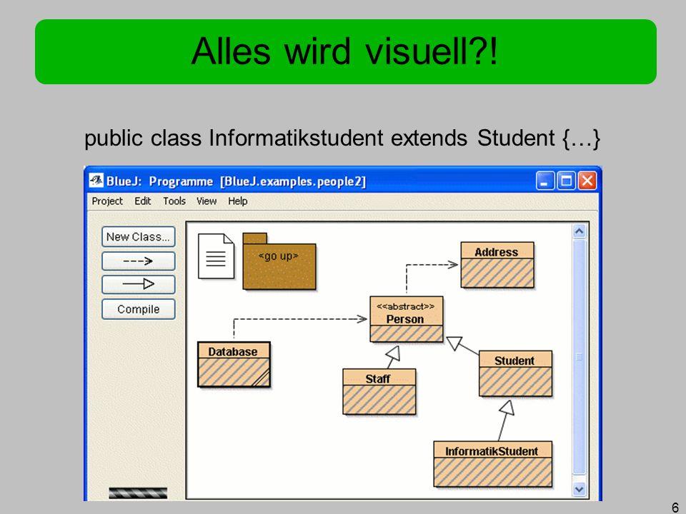 6 public class Informatikstudent extends Student {…}