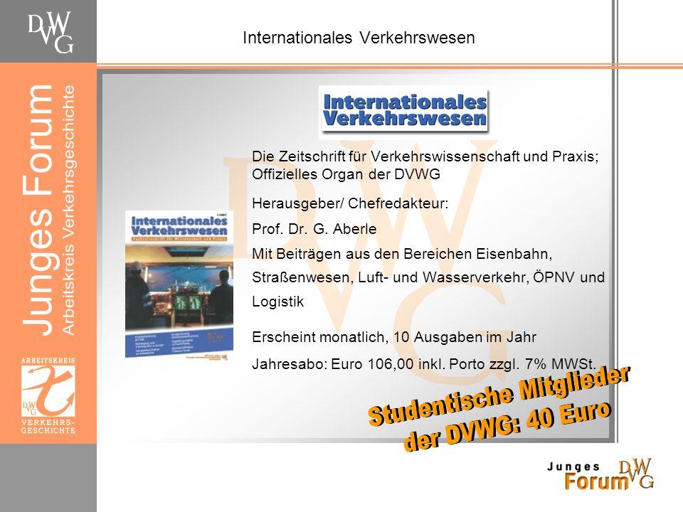 Die DVWG in der Dresdner Fachschaft Verkehrswissenschaften Für Sie vor Ort am Hochschulstandort Dresden…