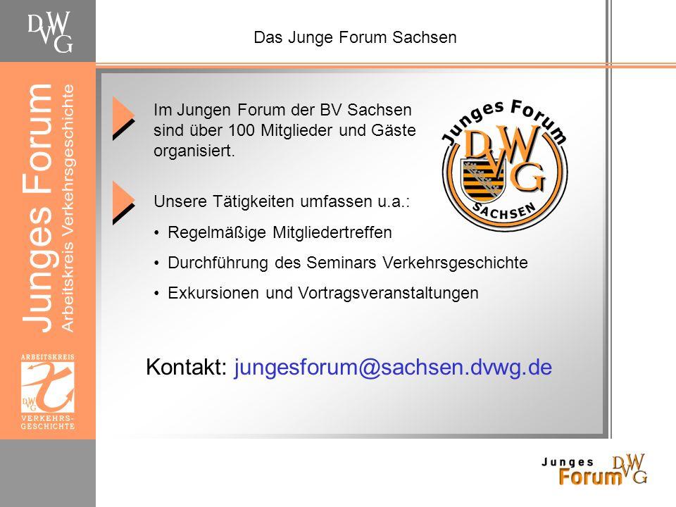 Demnächst beim Jungen Forum Sachsen Herbstausflug ins Kirnitzschtal Wann: Do, 30.10.2008, 14:45-22:00 Uhr Teilnahmebeitrag: 5 Anmeldung bis Freitag, 17.10.2008 per Mail an geschaeftsfuehrung@sachsen.dvwg.de