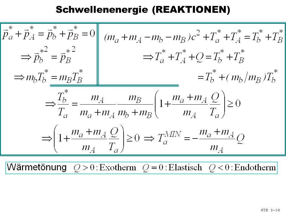 Schwellenenergie (REAKTIONEN) KTB 3-06