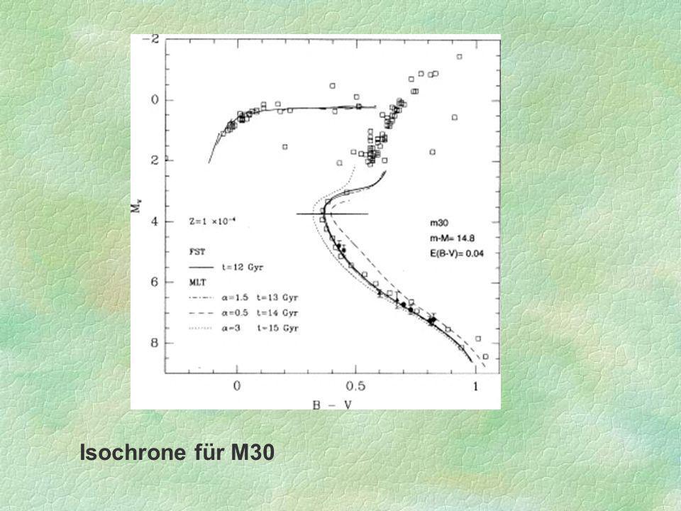 Isochrone für M30