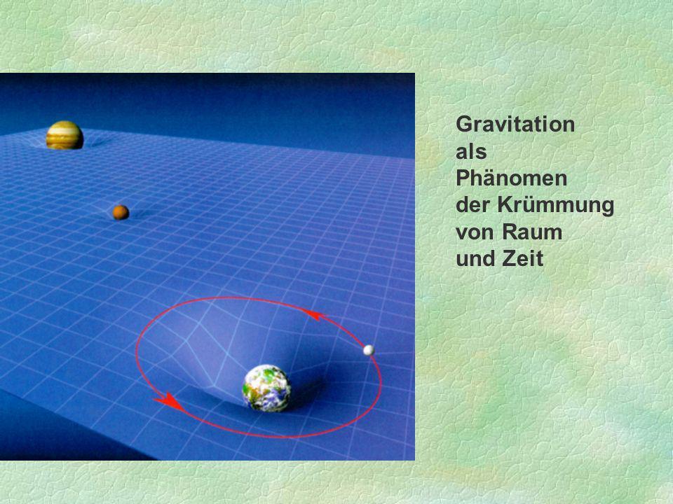 Gravitation als Phänomen der Krümmung von Raum und Zeit