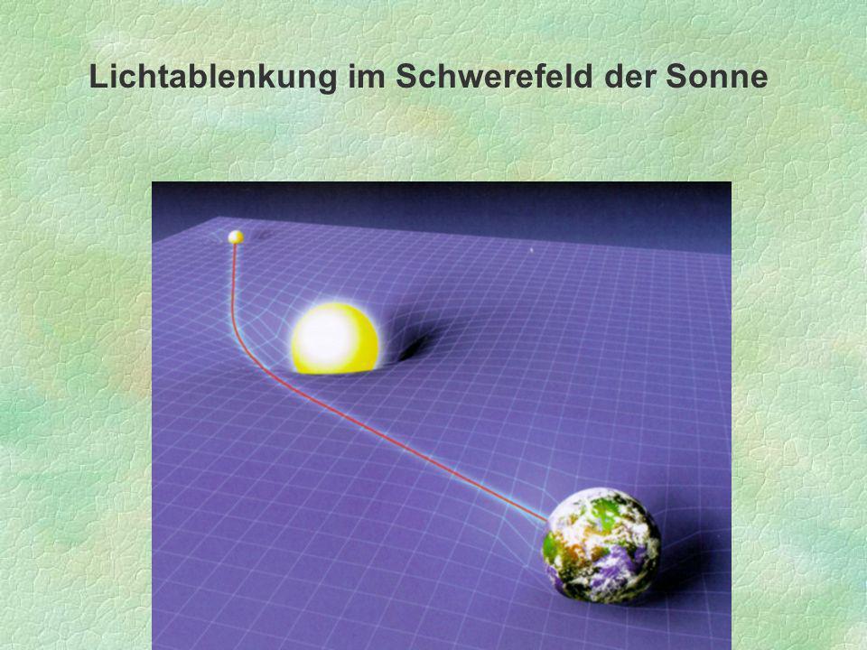 Lichtablenkung im Schwerefeld der Sonne