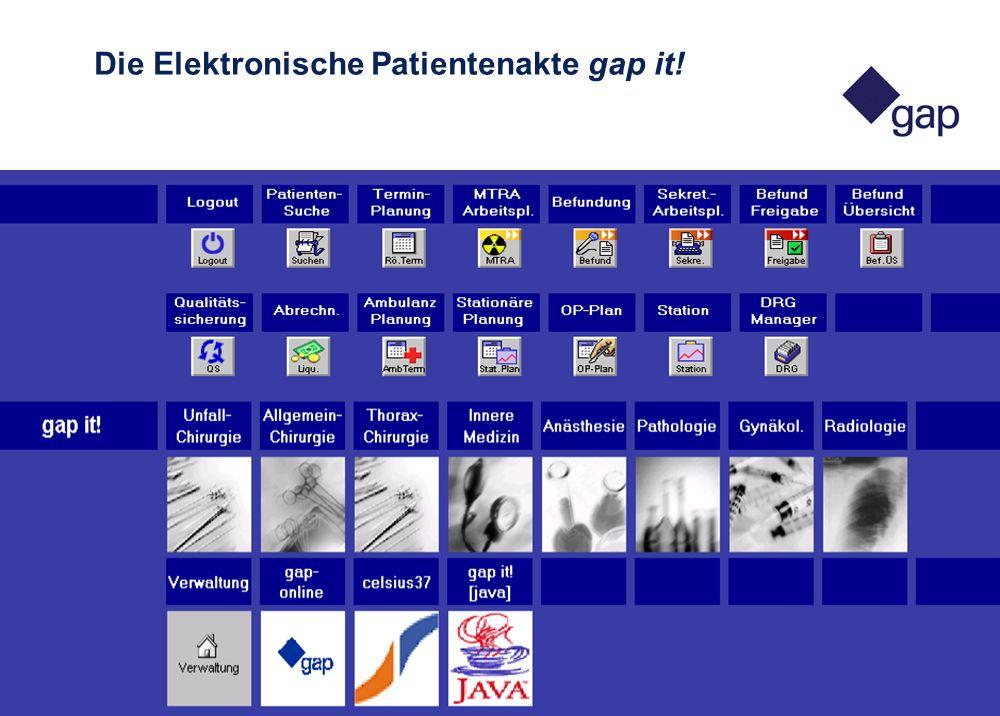 26. APIS-Tagung in Luxemburg 11 2. - 3. Mai 2002 Die Elektronische Patientenakte gap it!