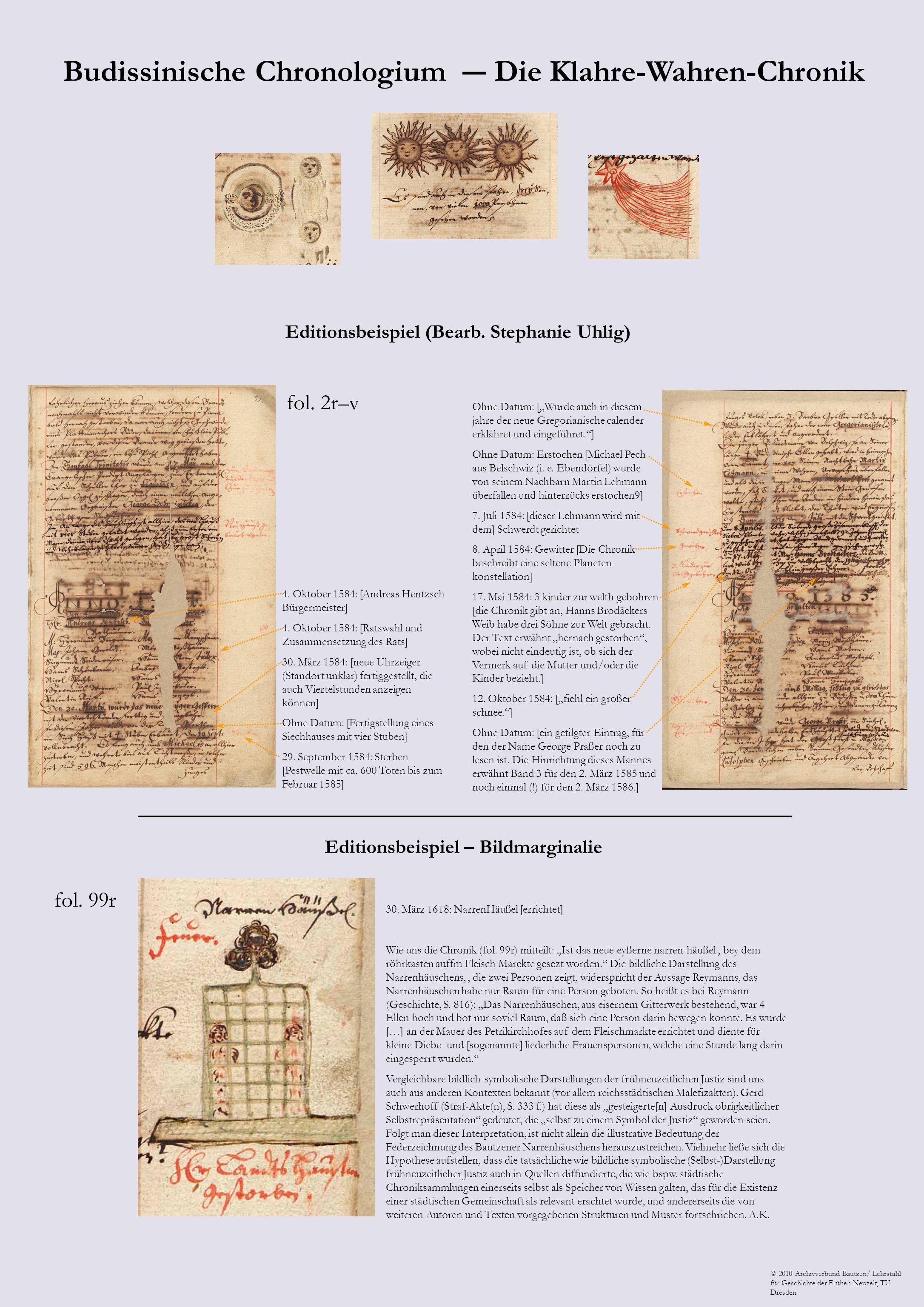 © 2010 Archivverbund Bautzen/ Lehrstuhl für Geschichte der Frühen Neuzeit, TU Dresden Editionsbeispiel (Bearb. Stephanie Uhlig) 4. Oktober 1584: [Andr