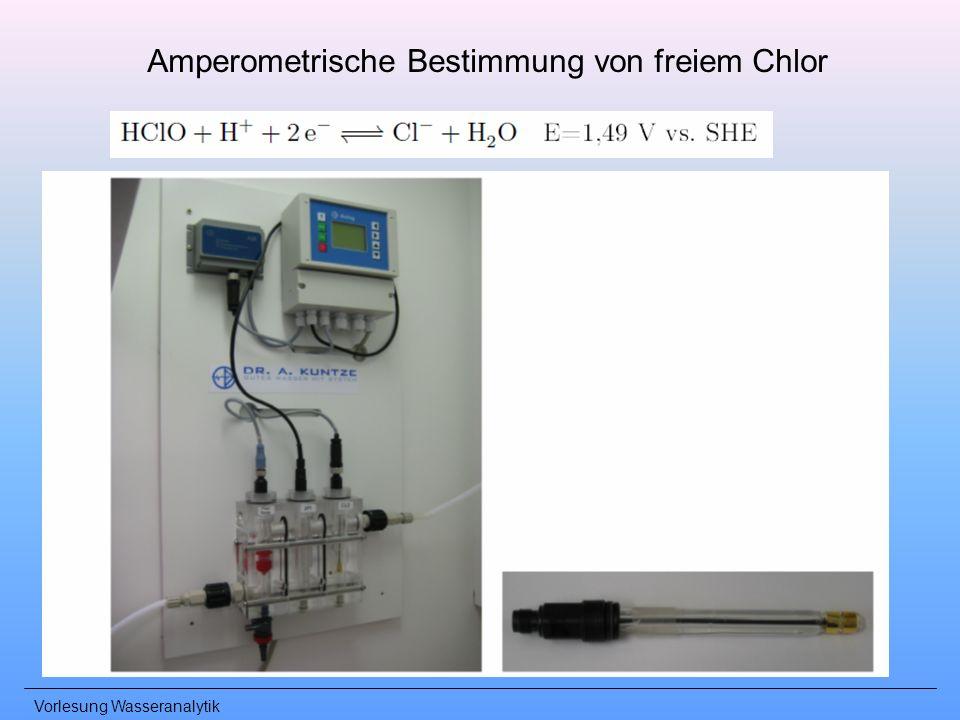 Vorlesung Wasseranalytik Amperometrische Bestimmung von freiem Chlor