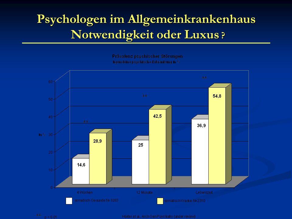 Psychologen im Allgemeinkrankenhaus Notwendigkeit oder Luxus ?