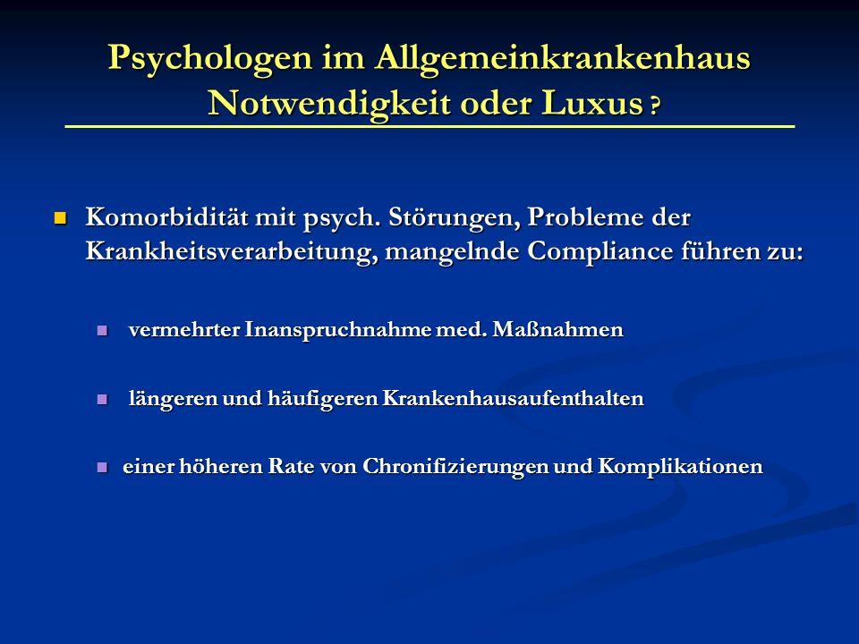 Komorbidität mit psych. Störungen, Probleme der Krankheitsverarbeitung, mangelnde Compliance führen zu: Komorbidität mit psych. Störungen, Probleme de