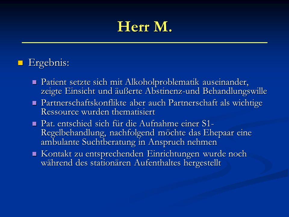Frau W.Kurzanamnese: Kurzanamnese: 39-jährige Patientin mit chron.