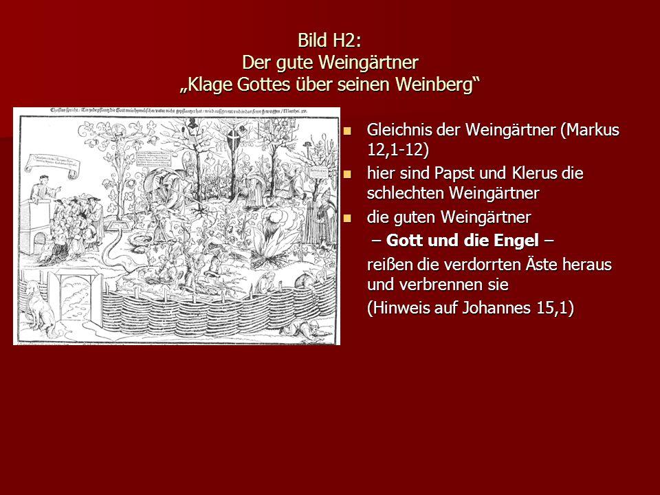 Bild H2: Der gute Weingärtner Klage Gottes über seinen Weinberg Gleichnis der Weingärtner (Markus 12,1-12) Gleichnis der Weingärtner (Markus 12,1-12)