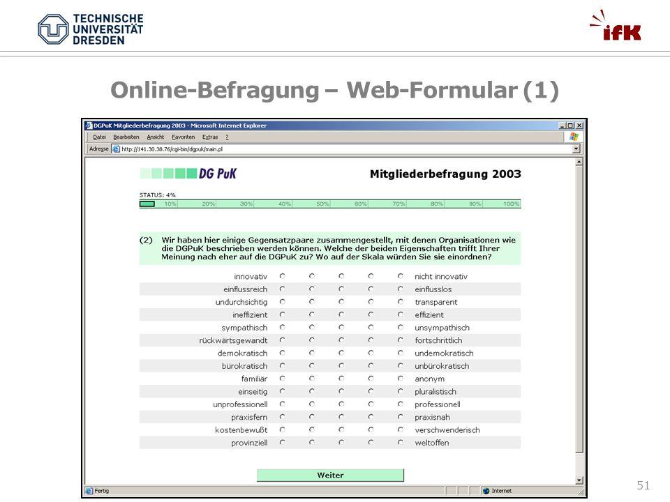 51 Online-Befragung – Web-Formular (1)